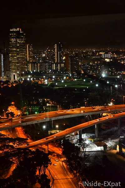 Golf de Singapour by night