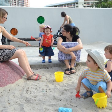 Jeux de sable à Bishan Park