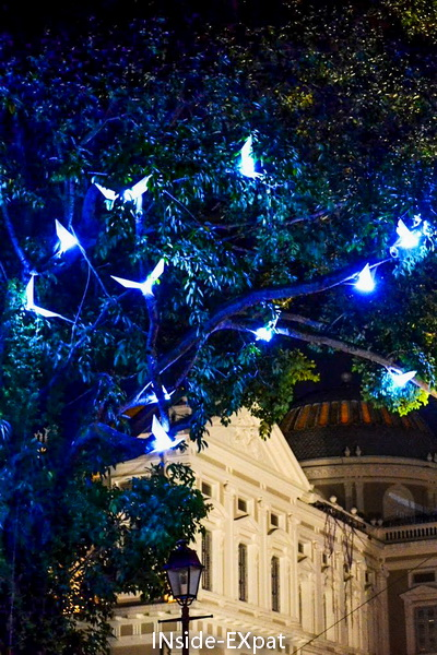 Autre installation lumineuse du festival