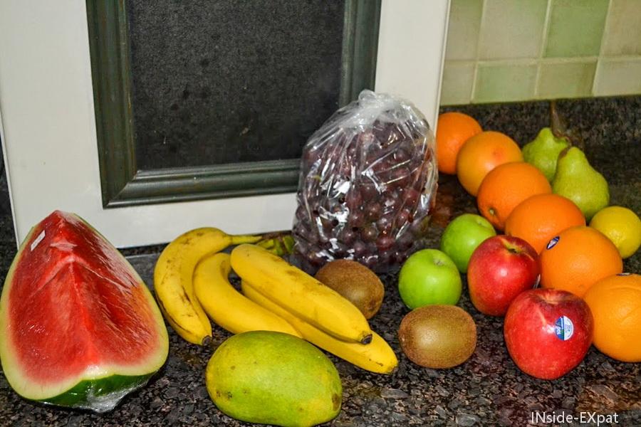 Les fruits dans mon panier de Sabine
