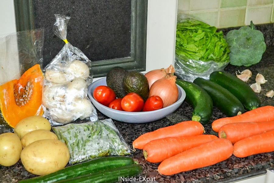 Les légumes de mon panier de Sabine