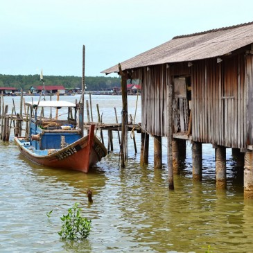 Un dimanche à Kukup, nature et tranches de vie malaises