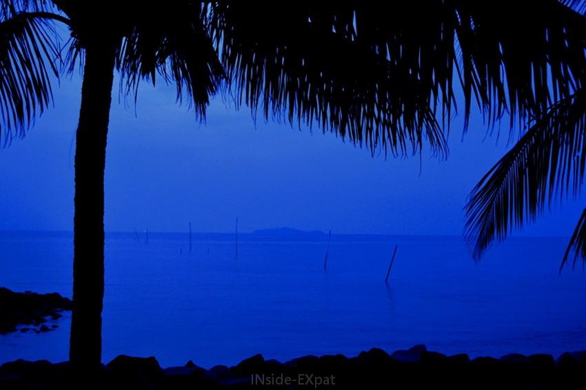 Nuit à Rambah Beach, Pontian, Malaisie