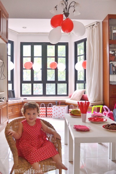Anniversaire thème singapour rouge et blanc