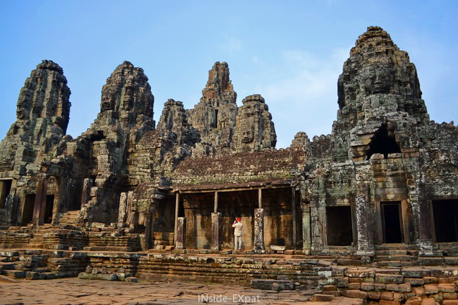 Galerie du temple Bayon à Angkor