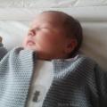 Meryl nouveau né à la maternité