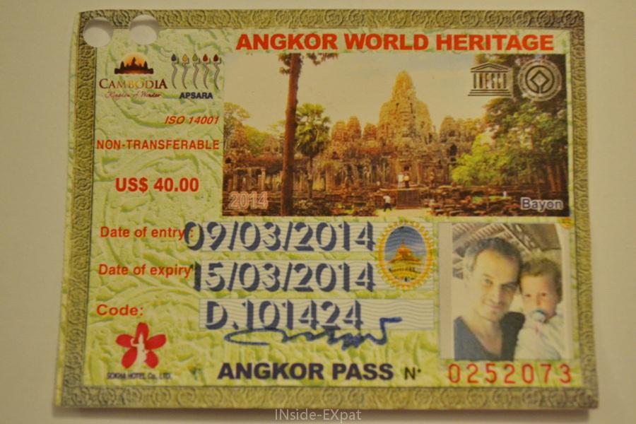 Pass Angkor 3 jours de mars 2014