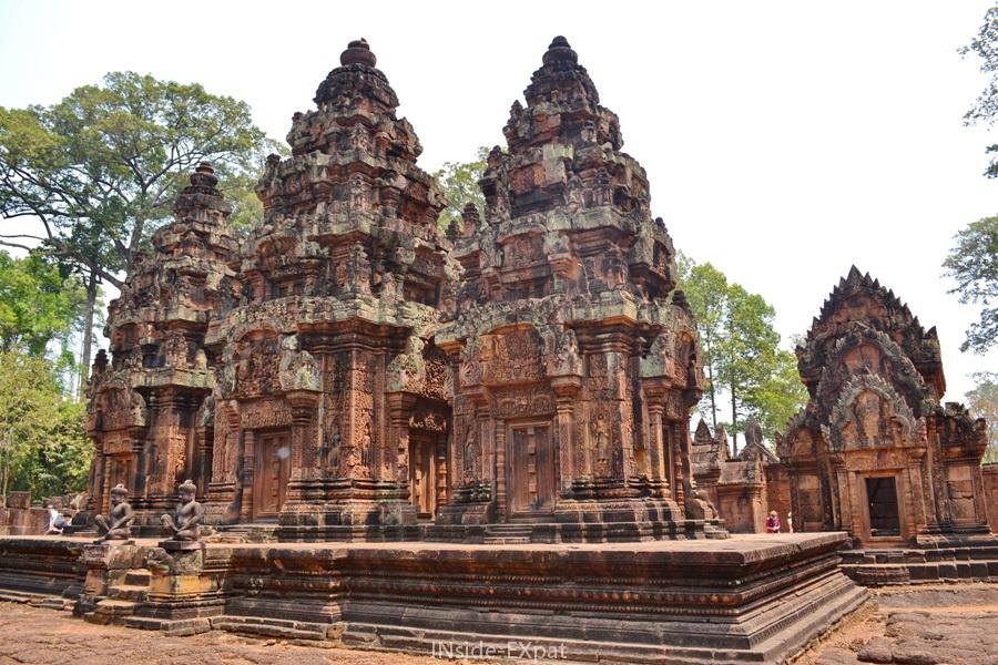 Temple khmer Banteay Srei - Angkor - Cambodge