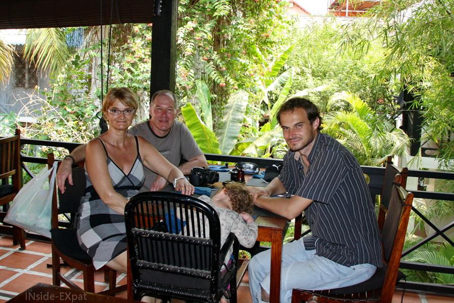 déjeuner en famille à la Noria
