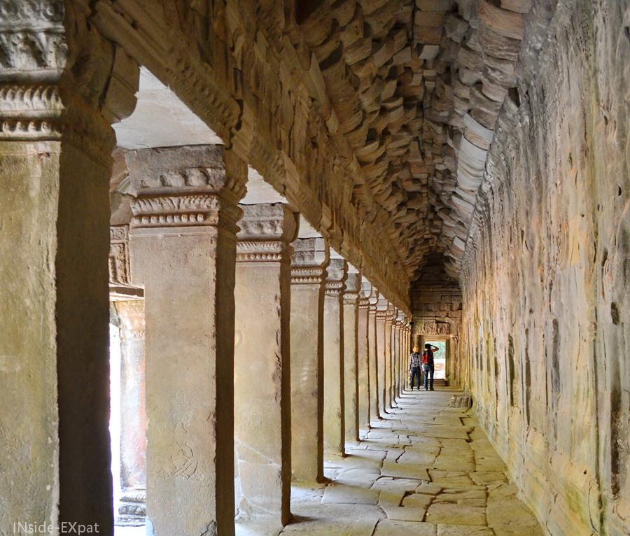 Galerie vue de l'intérieur, Ta Prohm, Angkor