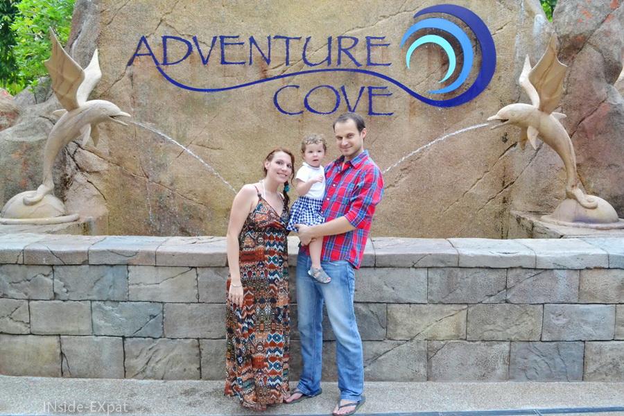Photo de famille à Adventure Cove