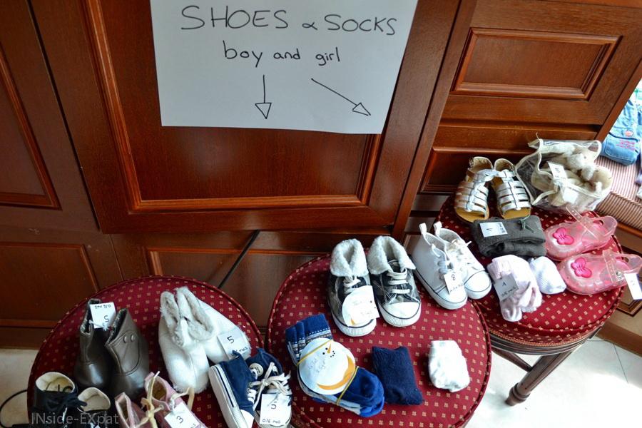 chaussures à vendre lors de notre vide-grenier