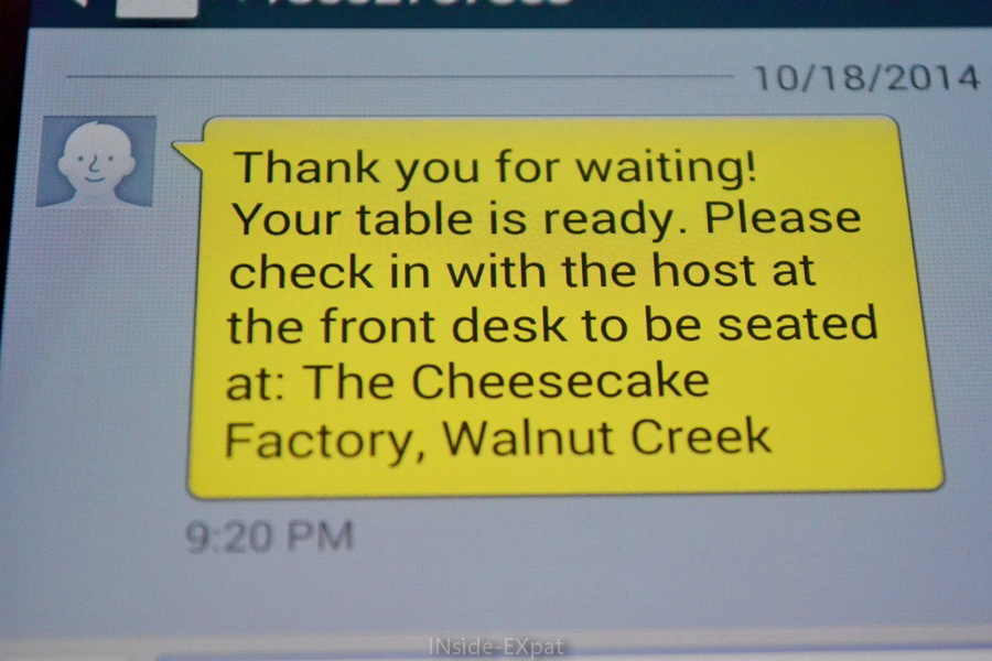 Texto du Cheesecake Factory