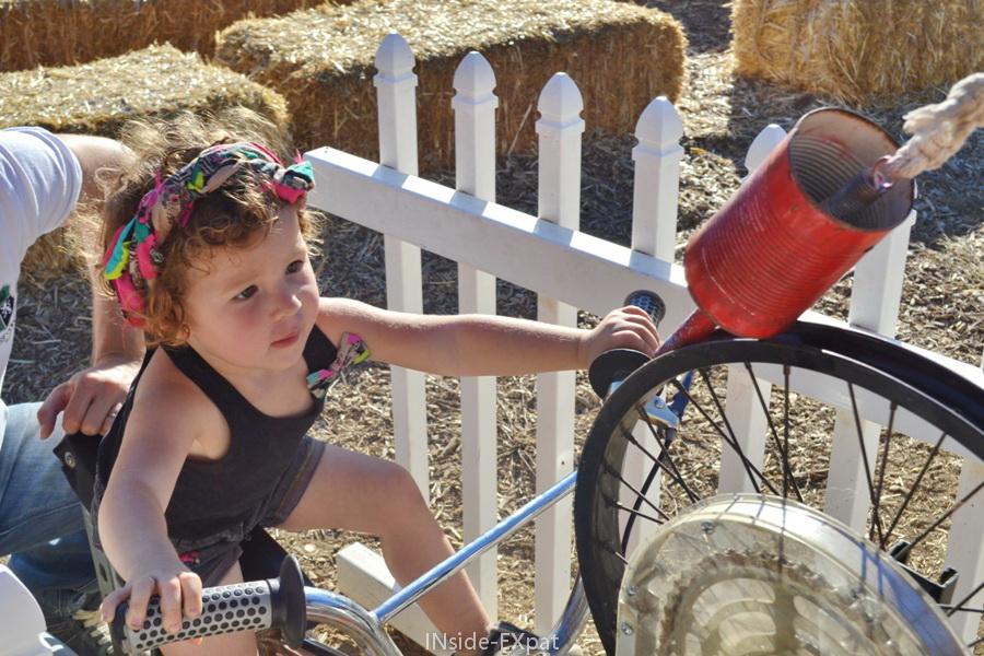 le vélo qui nourrit les animaux