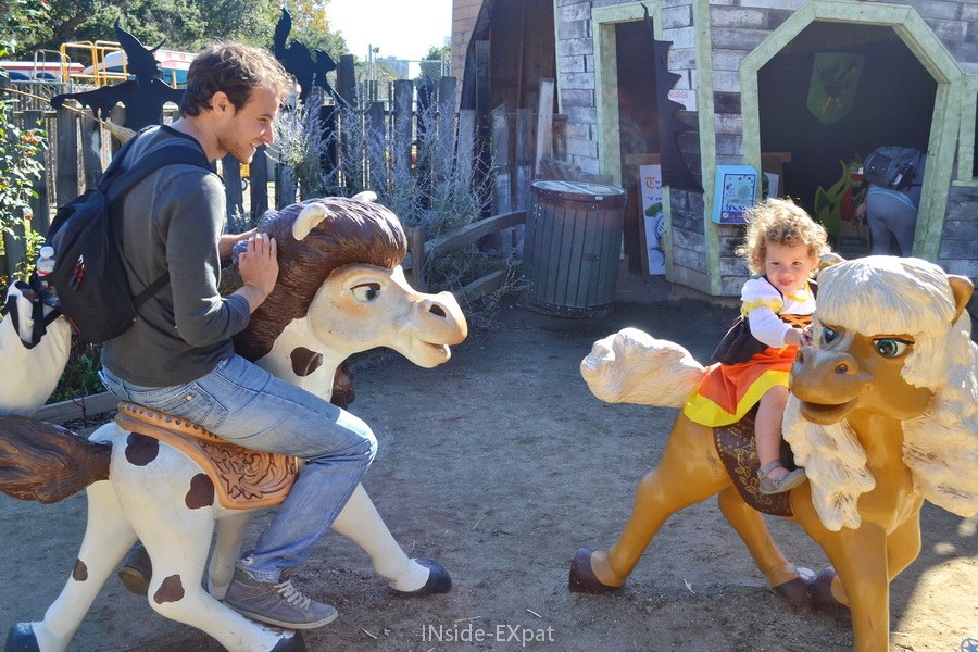 avec Daddy B. sur les chevaux
