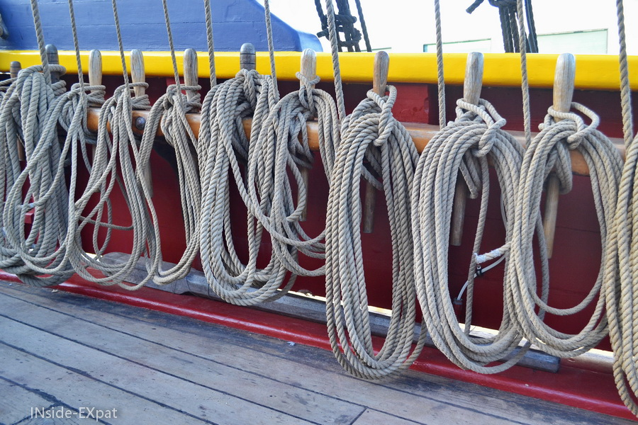 Cordages sur le Lady Washington