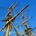 Les deux-mâts du navire
