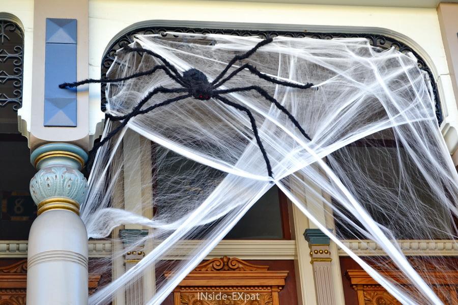 Halloween Araignée géante sur Hayes Street