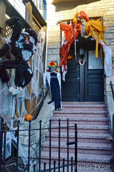 Pas de porte sur Divisadero Street pour Halloween
