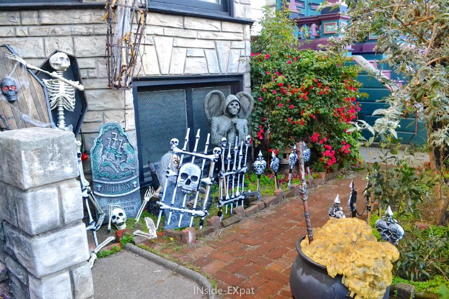 Faux cimetière pour Halloween