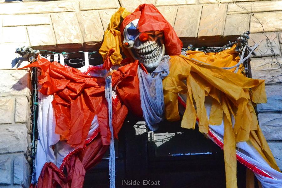 Déco Halloween clown squelette