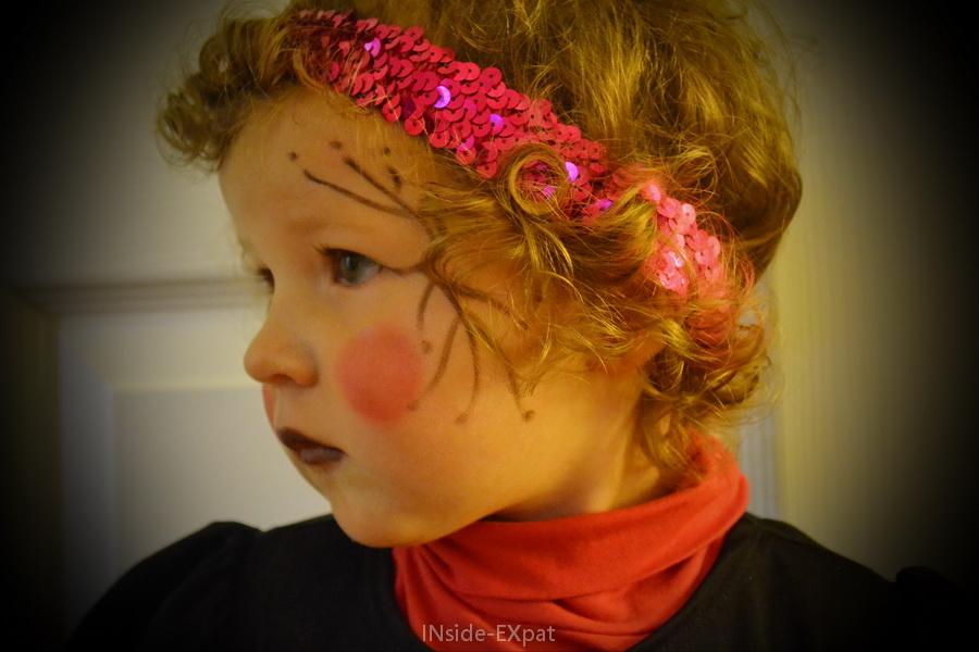 Le maquillage d'Halloween de Mimi