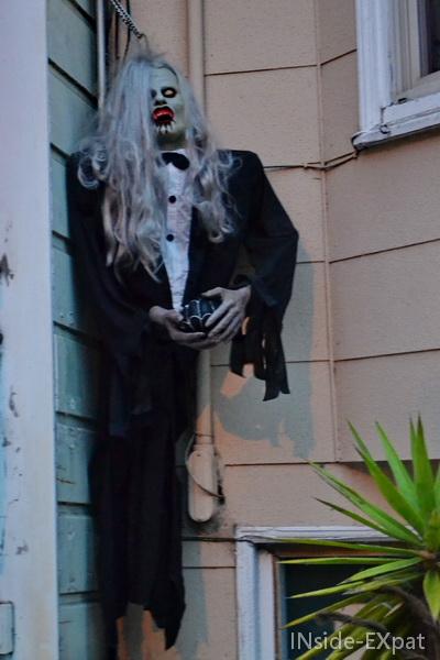 Décoration Halloween sur Belvedere Street