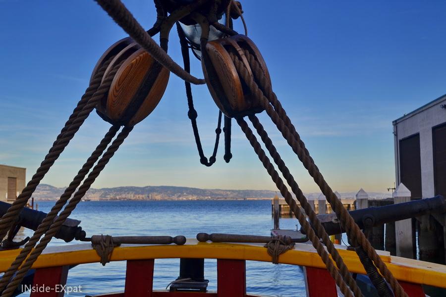 La Baie de San Francisco depuis le ponton