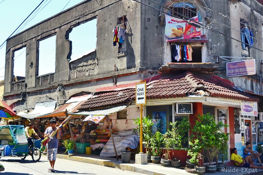 Bâtiment délabré dans Intramuros, Manille