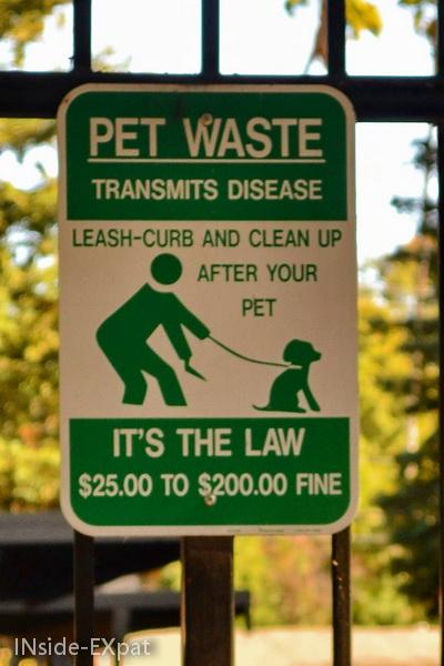 """Panneau """"Pet waste"""""""