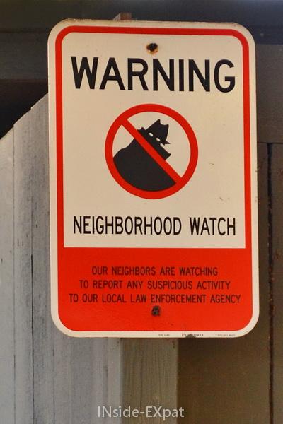 """Panneau """"Neighborhood watch"""""""