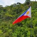 Drapeau philippin flottant au vent