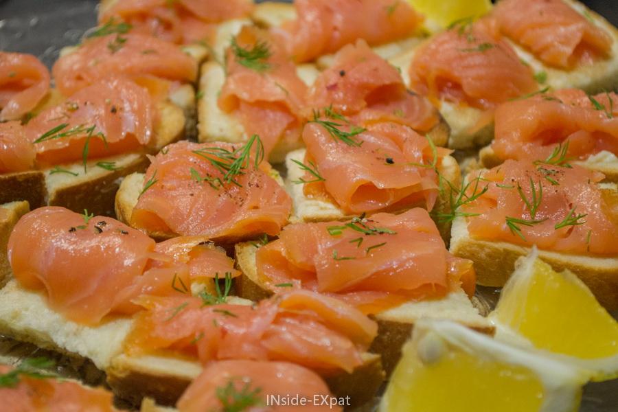 Les toasts de saumon fumé