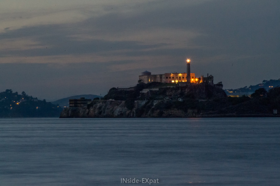 Alcatraz, San Francisco, Californie (by night)