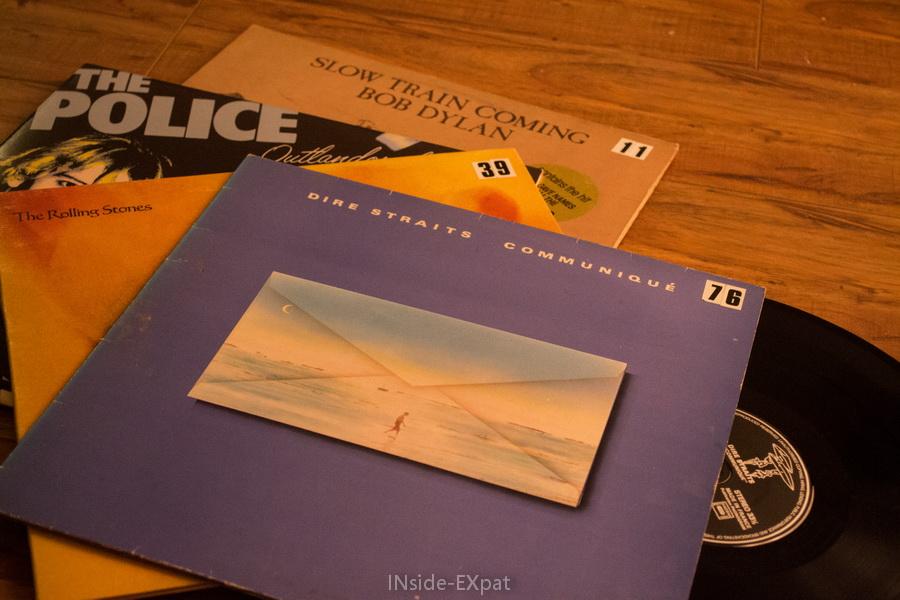 Pochettes et disque vinyle