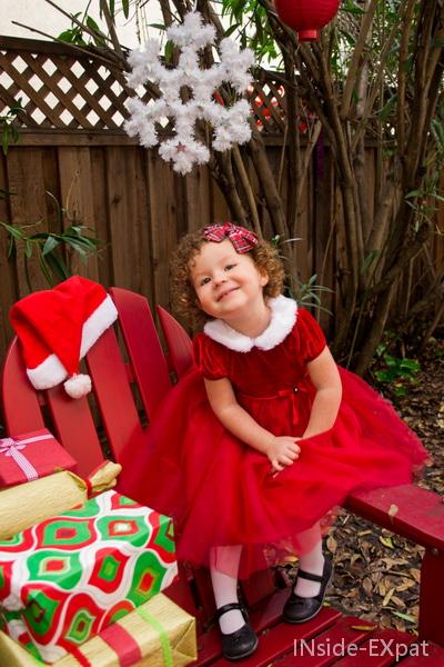 Sur le fauteuil du Père Noël