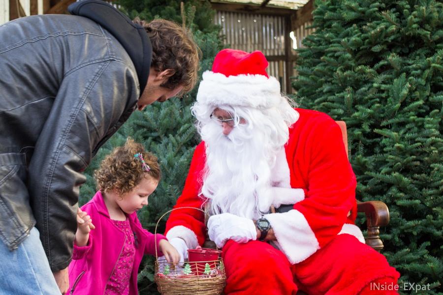 Le Père Noël et ses bonbons