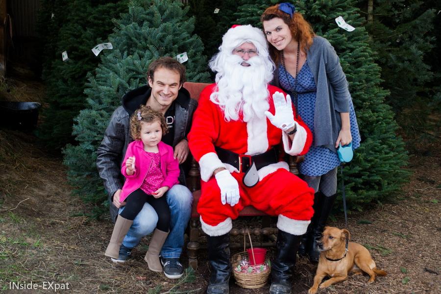 En famille avec le Père Noël
