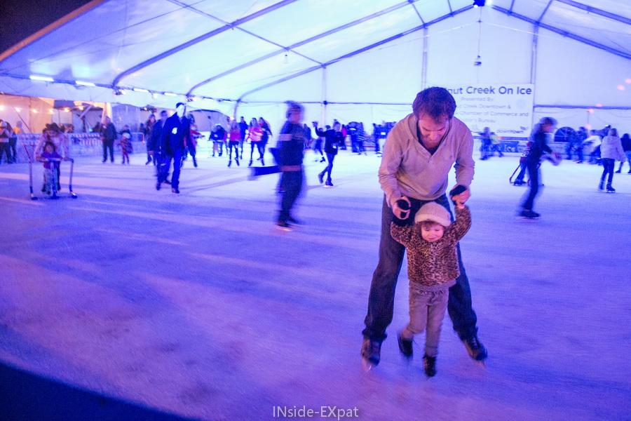 Daddy B. et Mimi B. à la patinoire