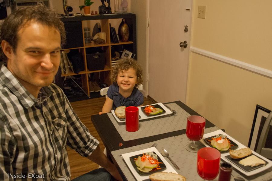 Daddy B. et Mimi B. à table