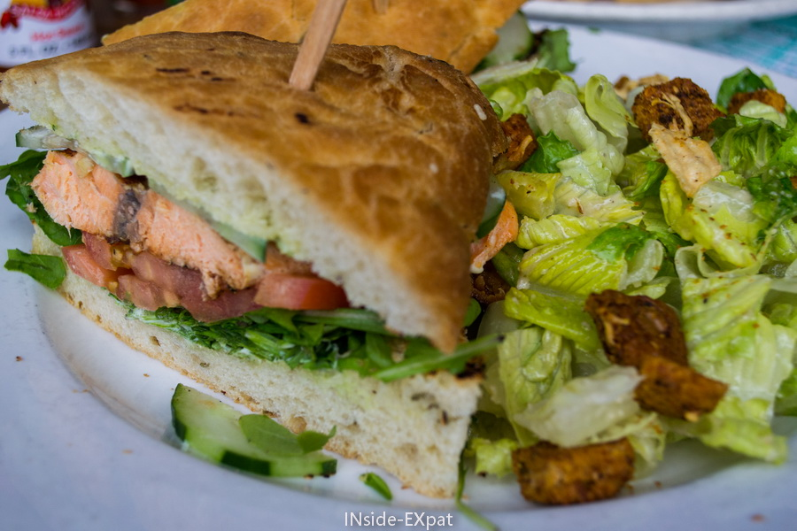 Club sandwich au saumon du Figtree's