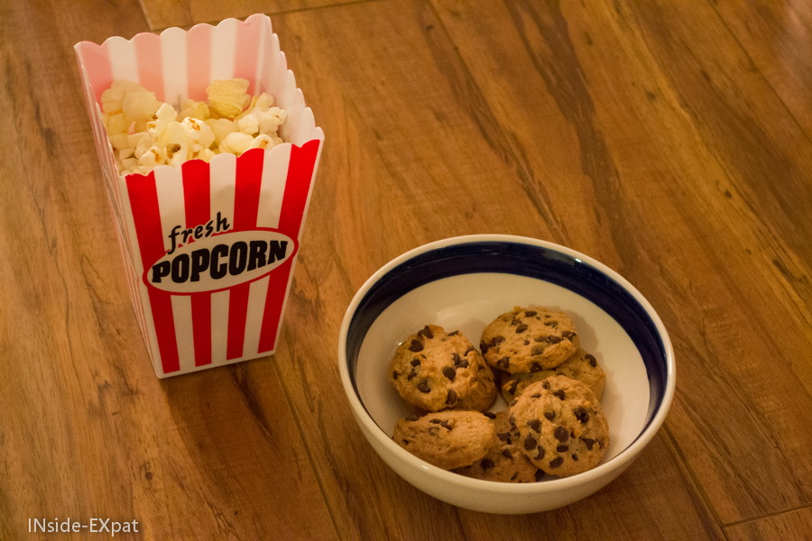 Pop corn et cookies