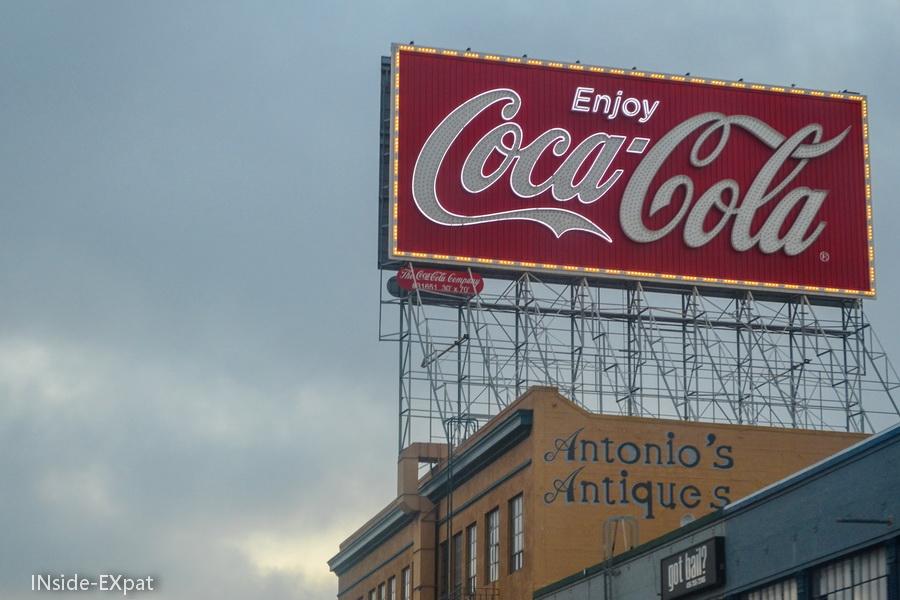 Panneau Coca-Cola