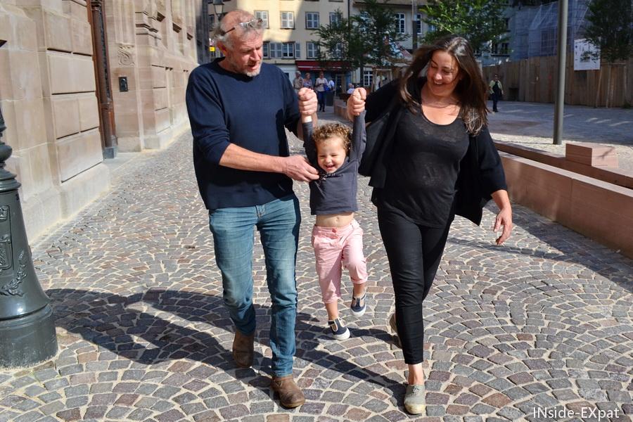 Avec Papy C.& E à Strasbourg