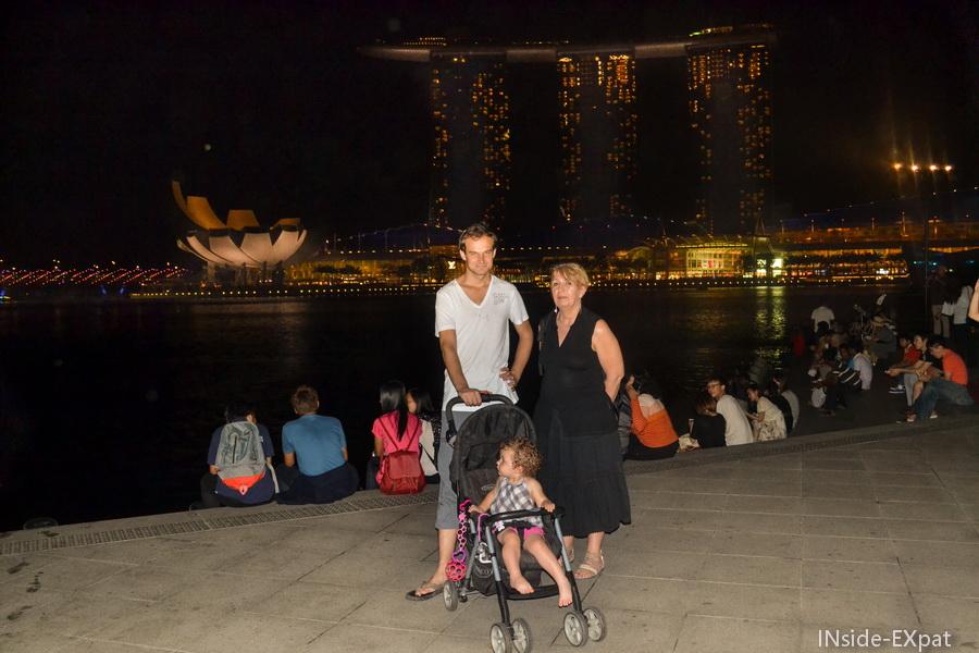 Avec Mamy FB à Marina Bay
