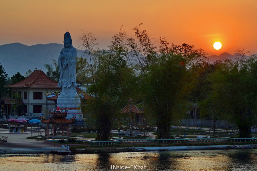 coucher de soleil en Thailande