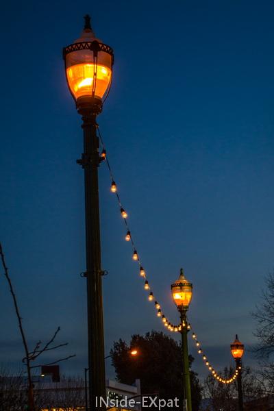 Lampadaires illuminés