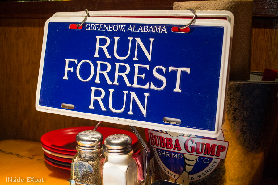 "Panneau ""Run, Forrest, Run"""
