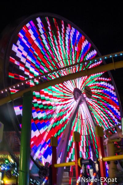Grande roue lumineuse