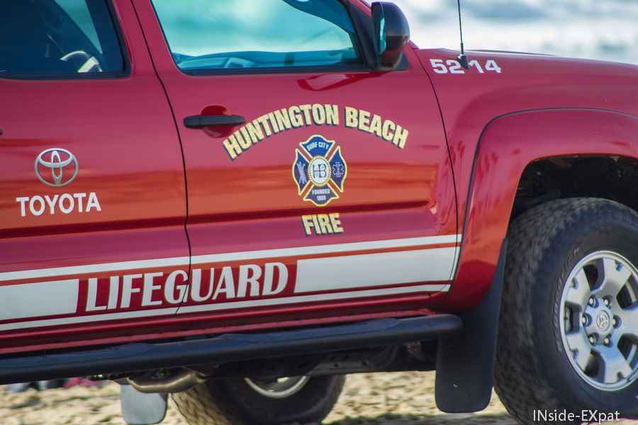 Huntington beach fire car